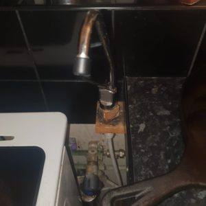 pipe home appliance installed